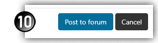 Post to forum button