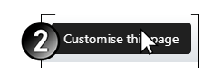 "Click ""customise this page"""