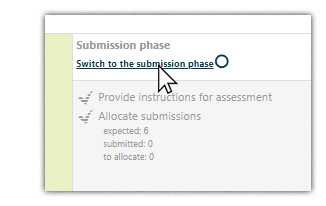 Click on the 'Switch phase' button