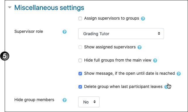 Group self-selection assigning supervisors to groups