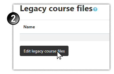 Edit legacy course files