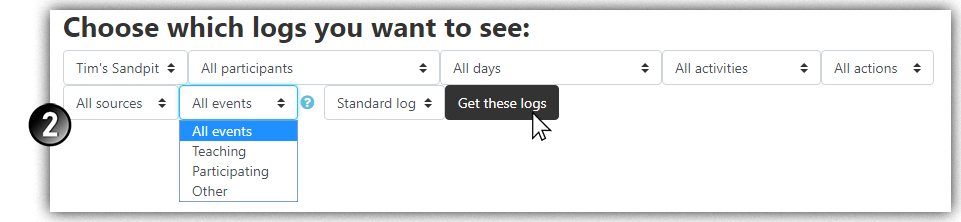 Choose log type and click to obtain them