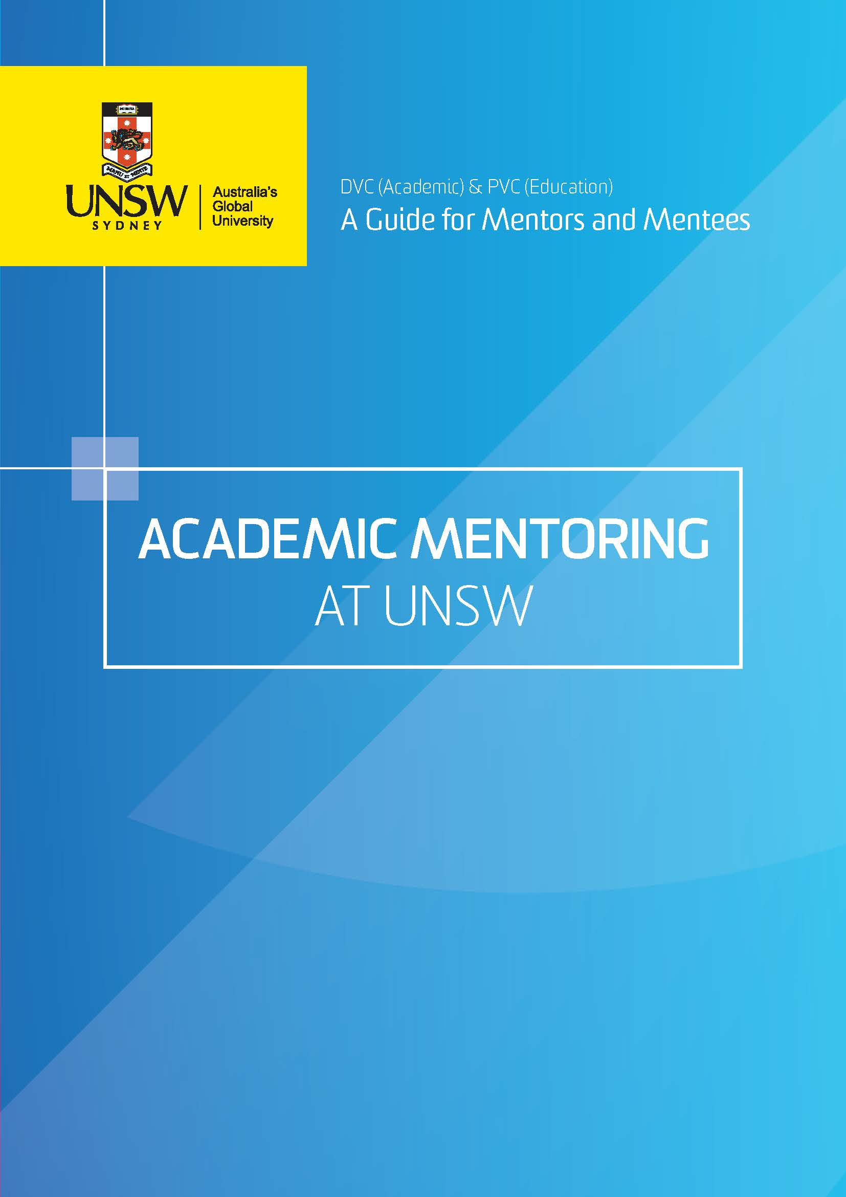Academic Mentoring Booklet