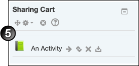 Sharing Cart block without deleted activities