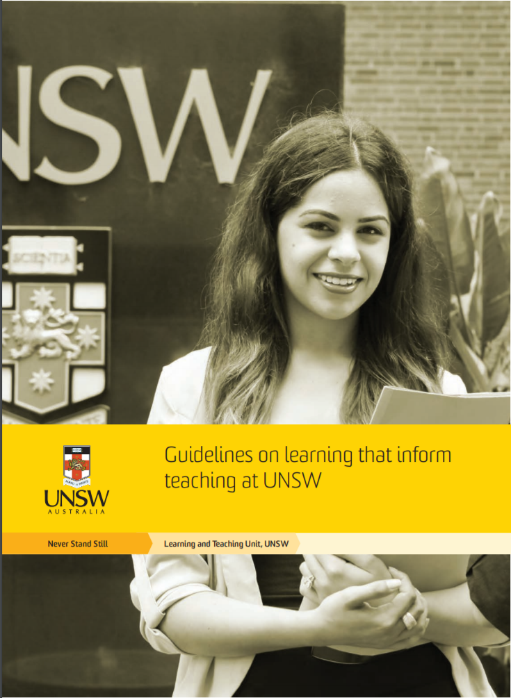 Guidelines on learning that inform teaching at UNSW