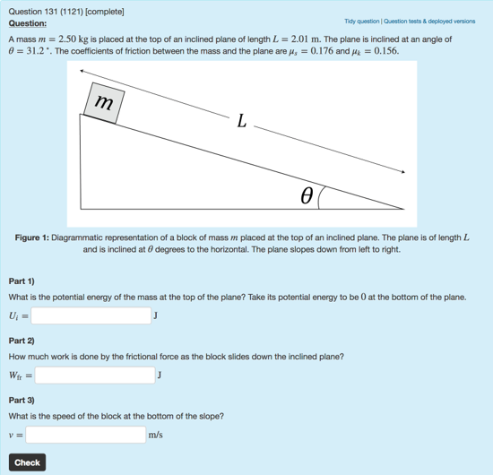 Quizzes using STACK for Physics | UNSW Teaching Staff Gateway