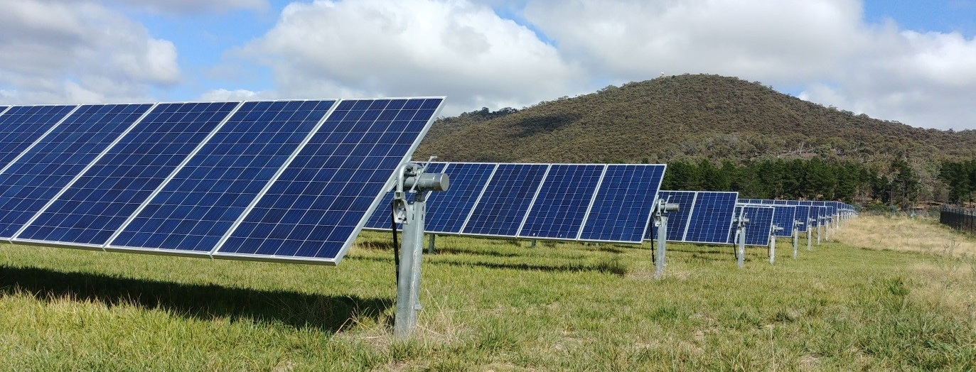 Photo taken by Dr Felipe Crisostomo at Mount Majura Solar Farm, ACT