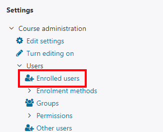 Enrolled users