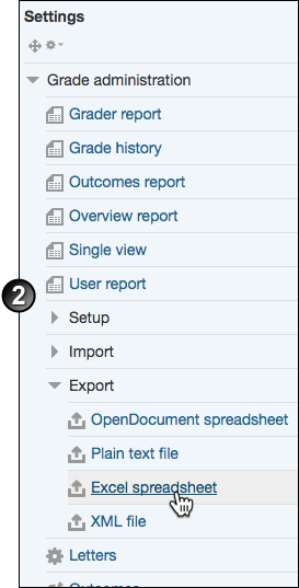 export grades from moodle gradebook unsw teaching staff gateway