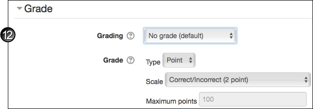Blog grade settings