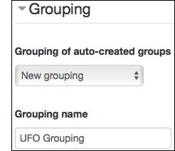Enter auto-create group options