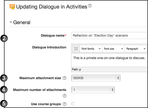 Dialogue add activity