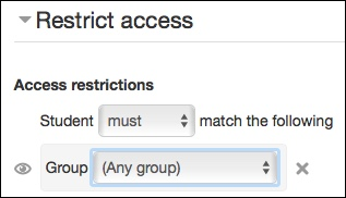 Restrict group
