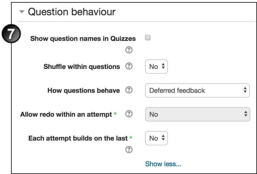 Create and manage a quiz in moodle unsw teaching staff gateway under review options select what you want the student to be able to see when they view their attempt or report at various stages ccuart Gallery