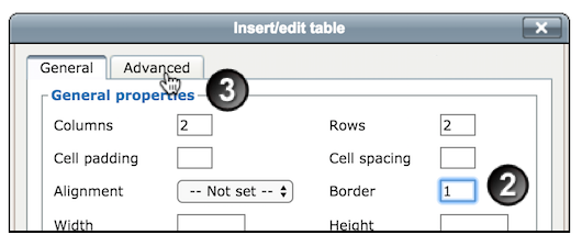 Create a Table inside the Moodle Text Editor | UNSW Teaching Staff