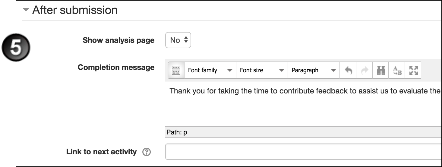 Create A Feedback Activity In Moodle Unsw Teaching Staff Gateway