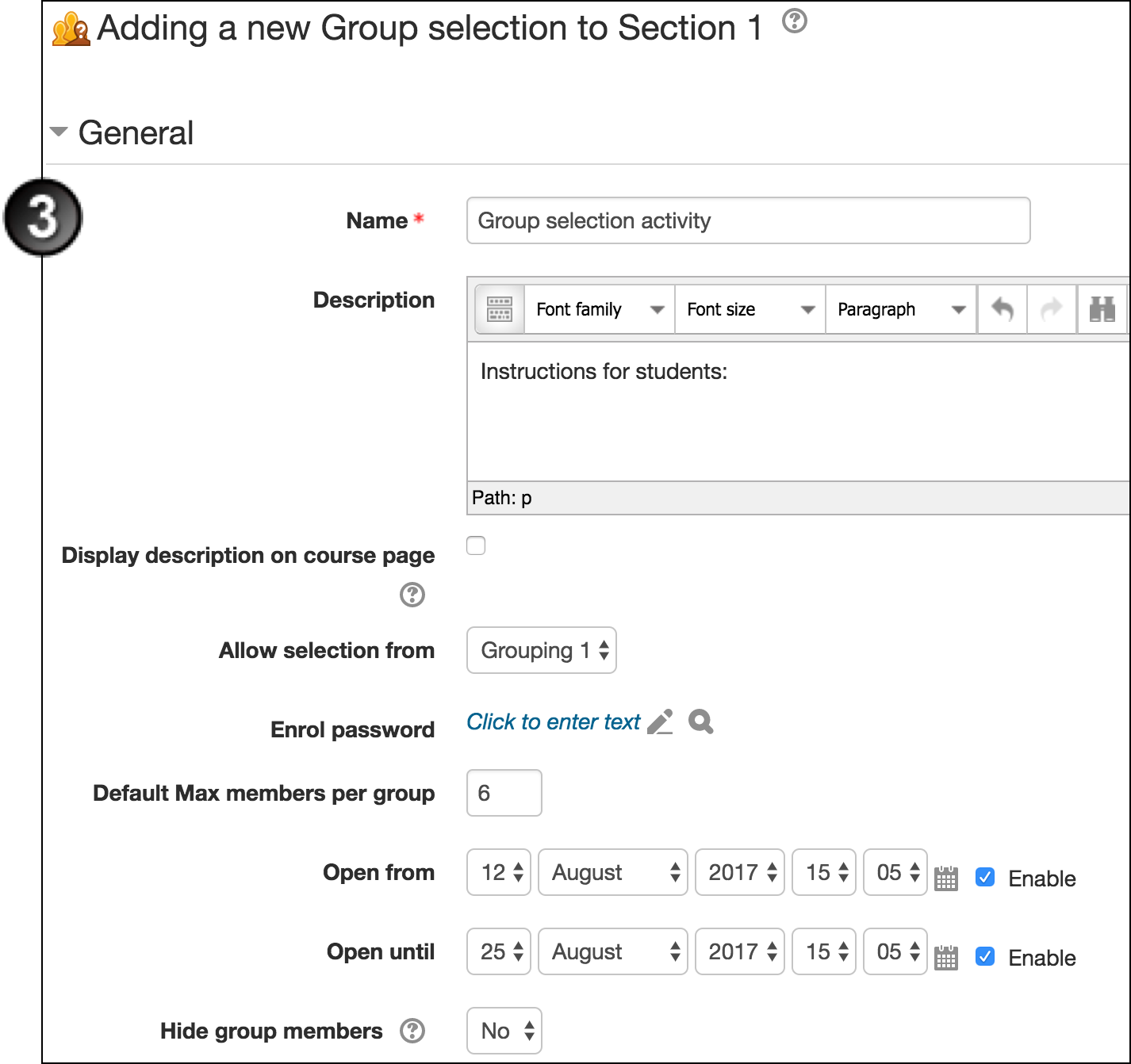 Allow Group Selection in Moodle | UNSW Teaching Staff Gateway